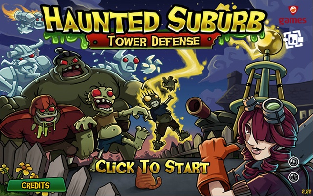 Haunted Suburb Tower Defense